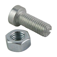Coupling Adjusting Bolt & Nut Suit 4 hole Over-ride Coupling Zinc