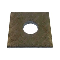 Trailer Axle Pad 40mm x 40mm x 6mm Thick Galvanised To Suit Square Axle