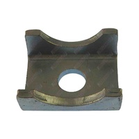 Trailer Axle Pad 60mm x 45mm x 6mm Thick Galvanised To Suit 39mm Round Axle