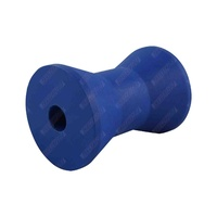 "4"" Inch Boat Trailer Bow Roller Cotton Reel Blue Nylon Plastic 101mm 17mm Bore"
