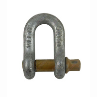 10mm Galvanised D Shackle with Yellow Pin rated up to 1000kgs