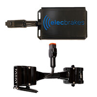 Electric Brake Controller + Plug & Play Adapter 12 Flat to 12 Flat Socket (Bundle)