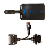 Electric Brake Controller + Plug & Play Adapter 7 Flat to 7 Flat Socket (Bundle)