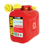 5 Litre Red Jerry Can Petrol Fuel Container Fuel Storage With Pourer