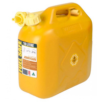 10 Litre Yellow Jerry Can Diesel Fuel Container Fuel Storage With Pourer