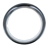 "14"" Premium Wheel Trim Ring Brand New Chrome Plated Metal Band Ring Single Only"