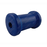 "4 1/2"" Inch Boat Trailer Keel Roller Cotton Reel Blue Nylon Plastic 114mm 17mm Bore"