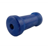 "6"" Inch Boat Trailer Keel Roller Cotton Reel Blue Nylon Plastic 152mm 17mm Bore"
