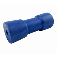 "6"" Inch Boat Trailer Keel Roller Dog Bone Blue Nylon Plastic 152mm 17mm Bore"