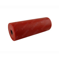 "8"" Inch Boat Trailer Flat Bilge Roller Red Soft Plastic 203mm 17mm Bore"