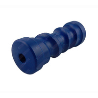 "8"" Inch Boat Trailer Keel Roller Self Centering Blue Nylon Plastic 203mm 17mm Bore"