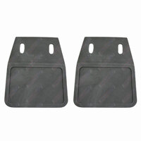 PAIR Plain PVC Grey Trailer Mud Flaps Ute Caravan Mudflaps 160mm x 120mm