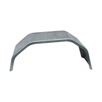 "Trailer Mudguard 4 Fold Galvanised 10"" Wide to suit 14"" Wheel"