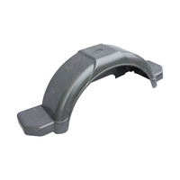 "Mudguard Plastic Grey 255mm Wide 1080mm Long Plus Side Step suit 14""or 15"" Wheel"