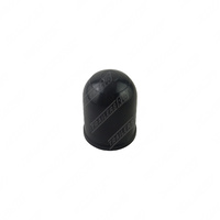 Black Plastic Tow Ball Cover Protect Towball Cap with Spring Clips 50mm