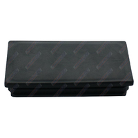 End Cap Square 100mm x 50mm Black Polyethylene