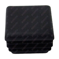 End Cap Square 30mm x 30mm Black Polyethylene