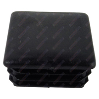 End Cap Square 40mm x 40mm Black Polyethylene