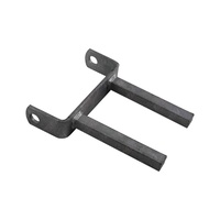"6'' Twin Stem Flat Bracket 6"" x 18mm Sq. Stem to Suit 6"" Boat Rollers Galvanised"