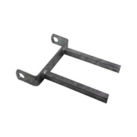 "8'' Twin Stem Flat Bracket 8"" x 18mm Sq. Stem to Suit 8"" Boat Rollers Galvanised"