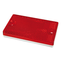 Red Trailer Reflector 73mm x 43mm Self Adhesive/Screw Base