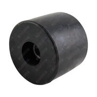 "2 1/2"" Inch Boat Trailer Round Cap Black Rubber 64mm 17mm Bore"