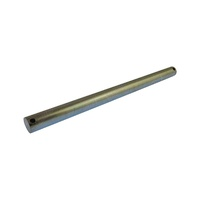 "Zinc plated 240mm x 16mm Dia Roller Spindle to suit 8"" Flat Bracket and 6"" Eye Post"