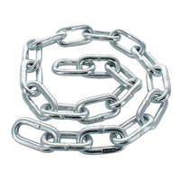 10mm Zinc 2500kg Trailer Rated Safety Chain 1 Metre Length Complies ADR Stamped