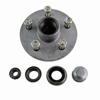 "Trailer Hub 6"" Holden HT 5 Stud With LM Bearings, Dust Cap & Seal - Galvansied"
