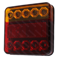 LED Combo Trailer Light 100mm x 100mm 12V Right hand Side Licence Plate Included - Single