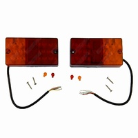 2x Rectangular LED Trailer Light Stop Tail Indicator Number Plate 12V Submersible