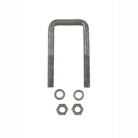 "U-Bolt 50mm (2"") SQUARE x 115mm (4 1/2"") Long 12mm Dia with Spring Washers & Nuts Galvanised"