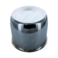 Chrome Centre Wheel Metal Cap Suits 110mm Bore Boat Box Trailer Caravan 4x4