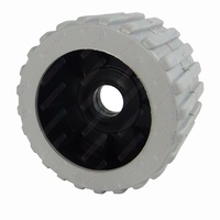 "4"" Diameter Boat Trailer Wobble Roller Ribbed 21mm Bore 3"" Wide Grey Boat Jet Ski Trailer"