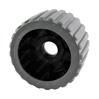 "4"" Diameter Boat Trailer Wobble Roller Ribbed 22mm Bore 3"" Wide Grey Boat Jet Ski Trailer"