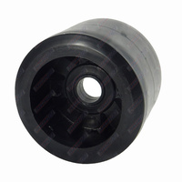 "4"" Diameter Boat Trailer Wobble Roller Smooth 21mm Bore 3"" Wide Black Boat Jet Ski Trailer"
