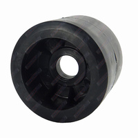 "4"" Diameter Boat Trailer Wobble Roller Smooth 26mm Bore 3"" Wide Black Boat Jet Ski Trailer"