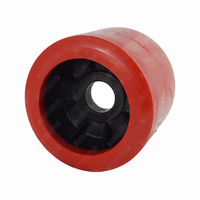 "4"" Diameter Boat Trailer Wobble Roller Smooth 26mm Bore 3"" Wide Red Boat Jet Ski Trailer"