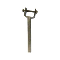 "Galvanized wood Yoke Stem 8"" Angled with 2"" x 1"" Bracket"