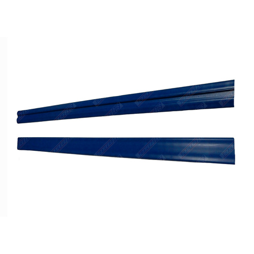 2 x Boat Trailer BLUE Skid Strips Teflon Grooved Slides Centre 50mm x 1.5M Long