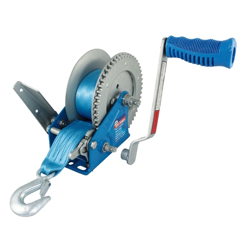 Hand Winch Rated up to 900Kg UV Coated Polyester Webbing